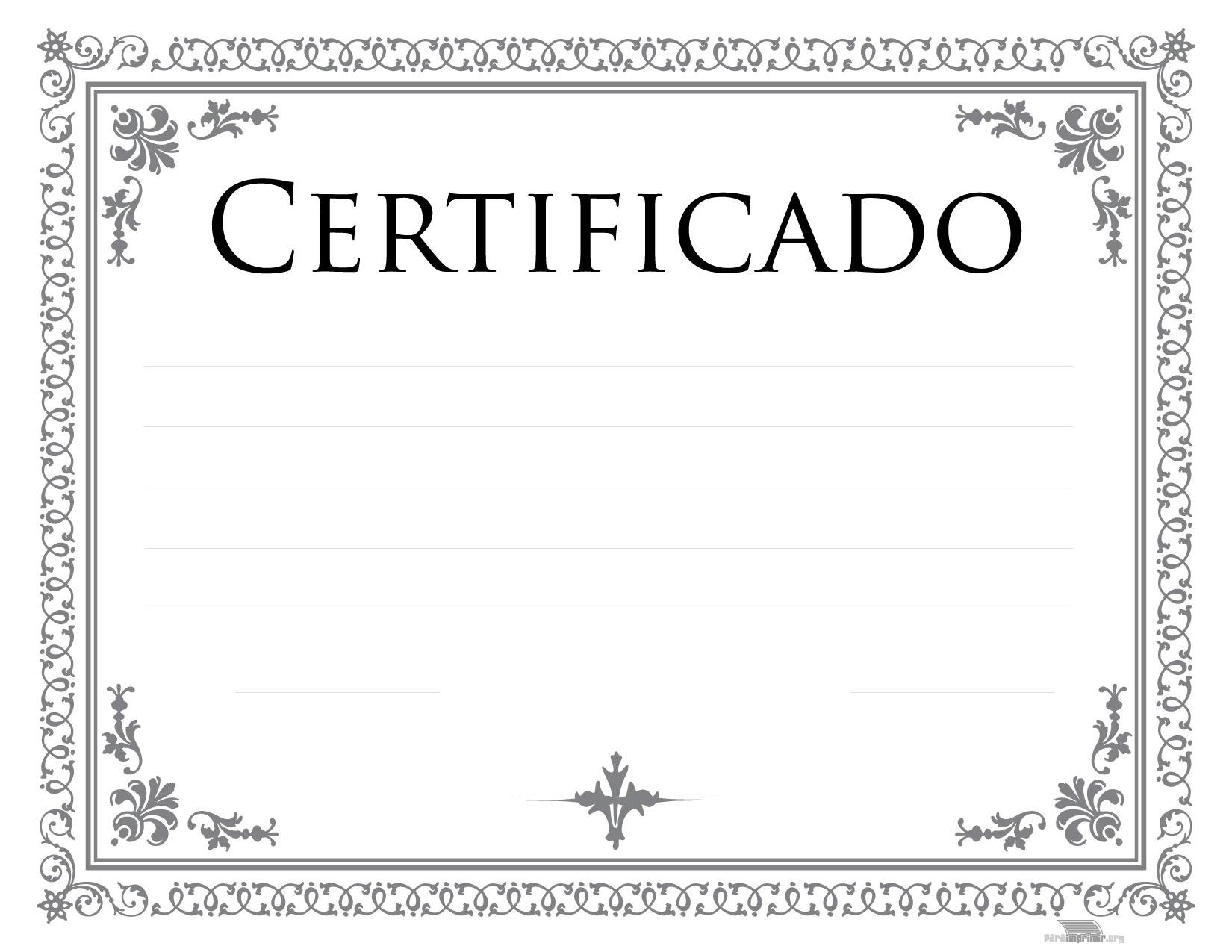 Certificados De Reconocimiento Para Imprimir